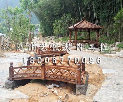 防腐木桥与景观亭(泰顺景观亭)