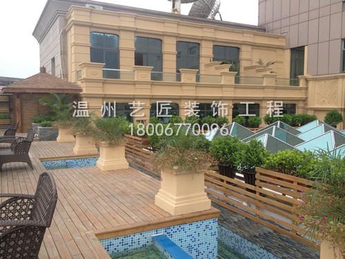 欧式造型屋顶园林