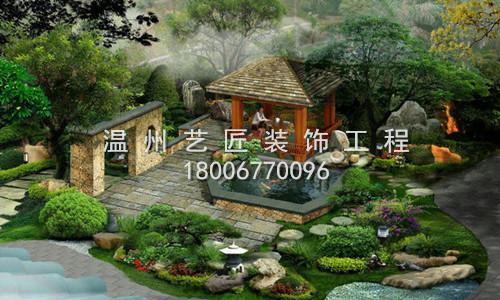 别墅庭院视觉图