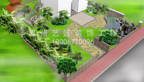 别墅庭院园林景观设计图