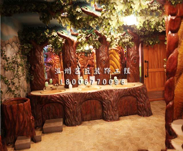 树桩造型的卫生间